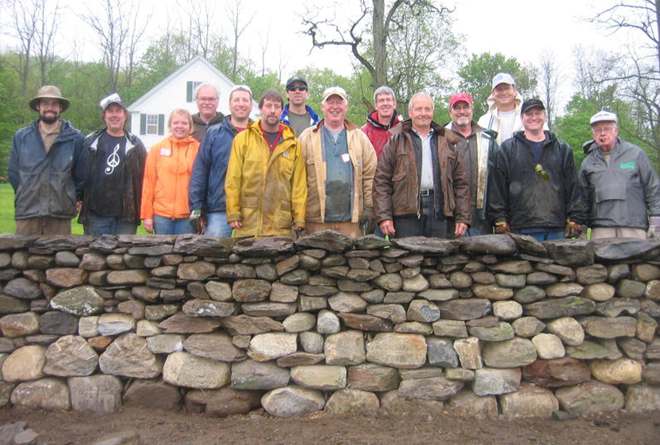 Dry Stone Wall completed workshop group photo
