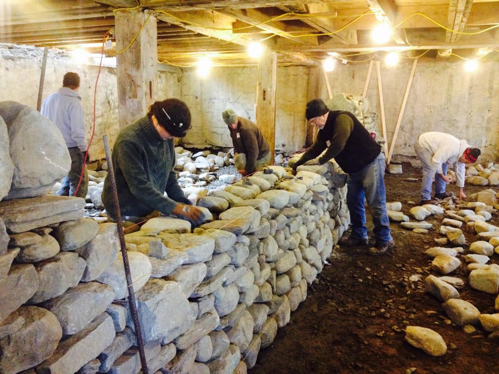 Dry Stone Workshop in Progress