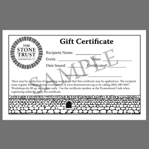 dry stone walling gift certificate