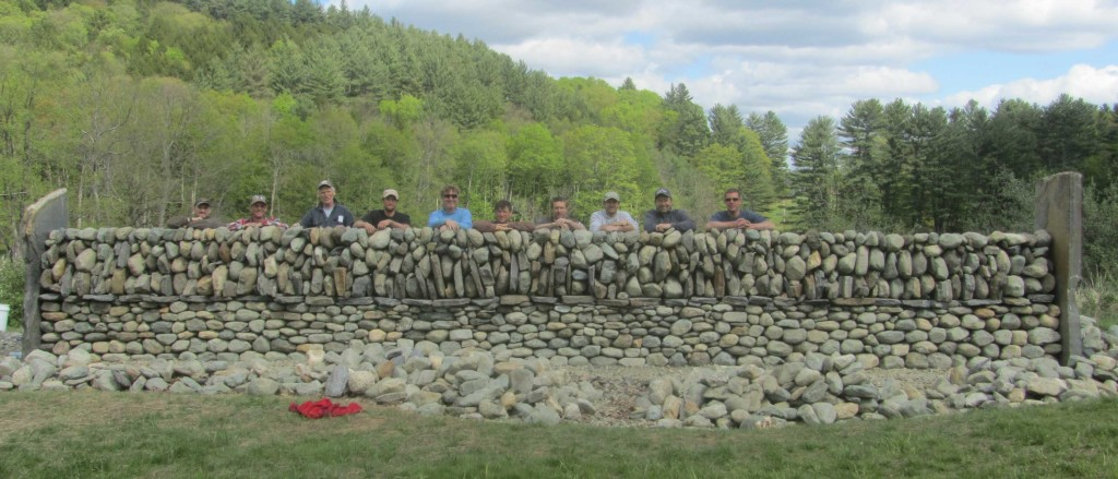 Irish and Scottish Dry Stone Wall Workshop at the Stone Trust.  Galloway and Fedien Walls.
