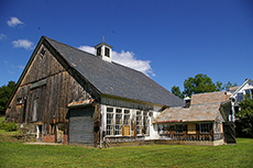 The exterior of the barn