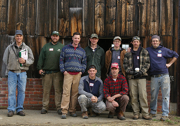 dry stone wall test day group photo