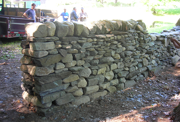 The back side of the same test wall