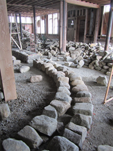 Curve foundation stones