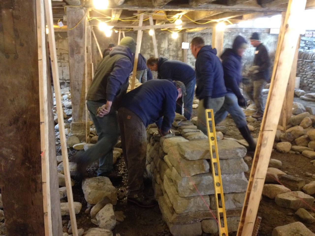 Contractors dry stone walling workshop march 2015