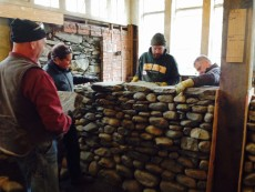 Level 1 dry stone wall workshop laying covers