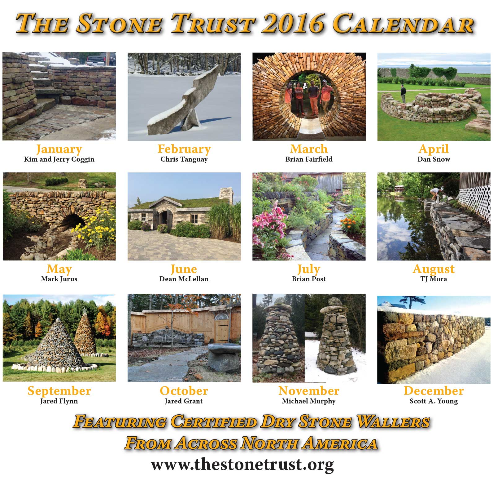 The Stone Trust Calendar - Back Cover