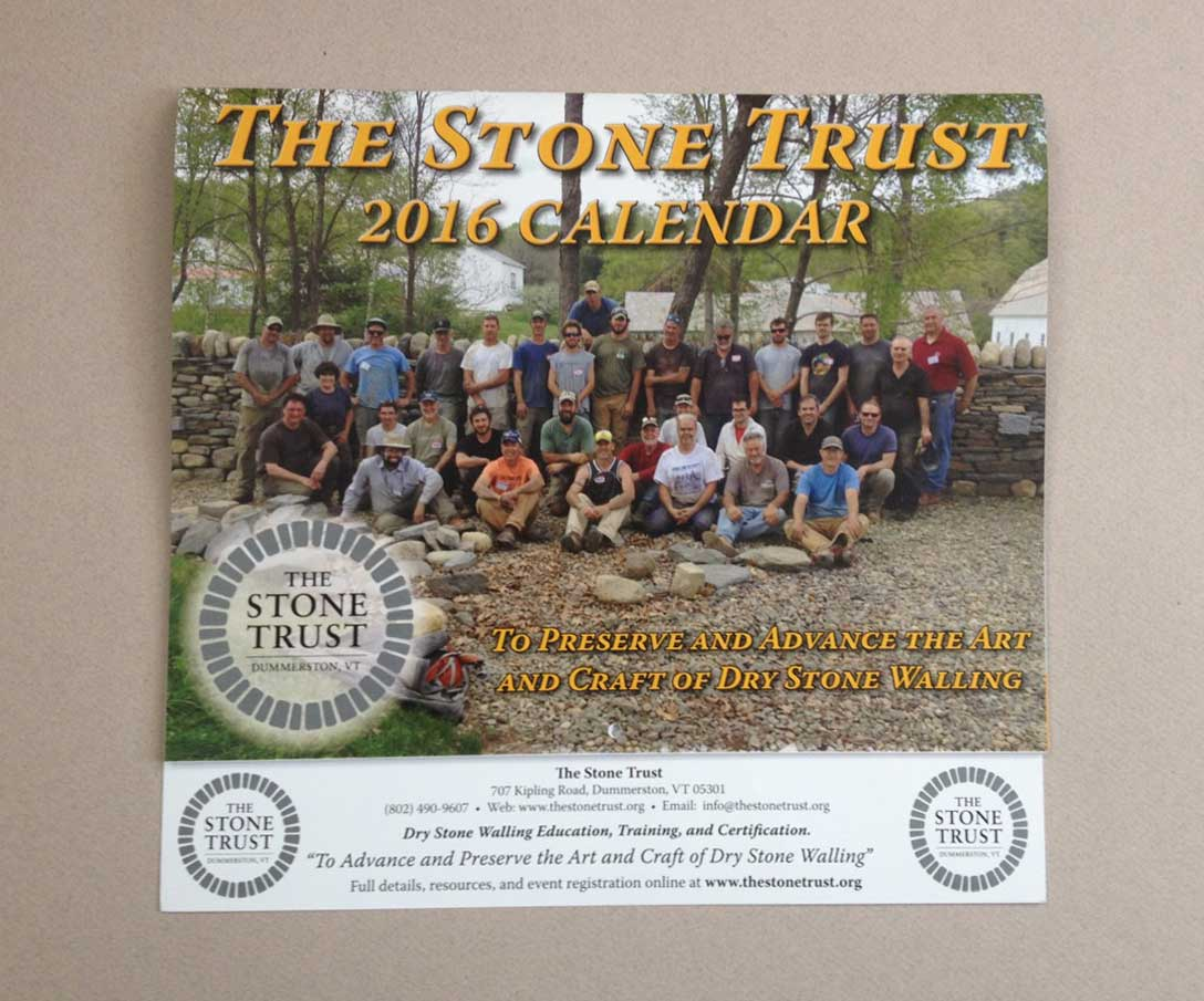 The Stone Trust 2016 Dry Stone Walling Calendar