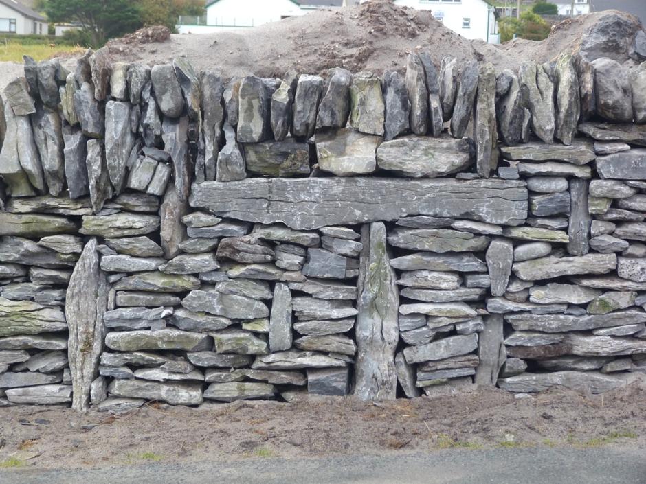 Feidin dry stone wall built in a workshop