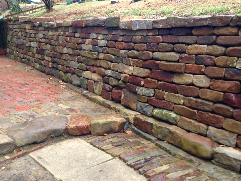 Dry Stone Retaining Wall built by Kim Coggin