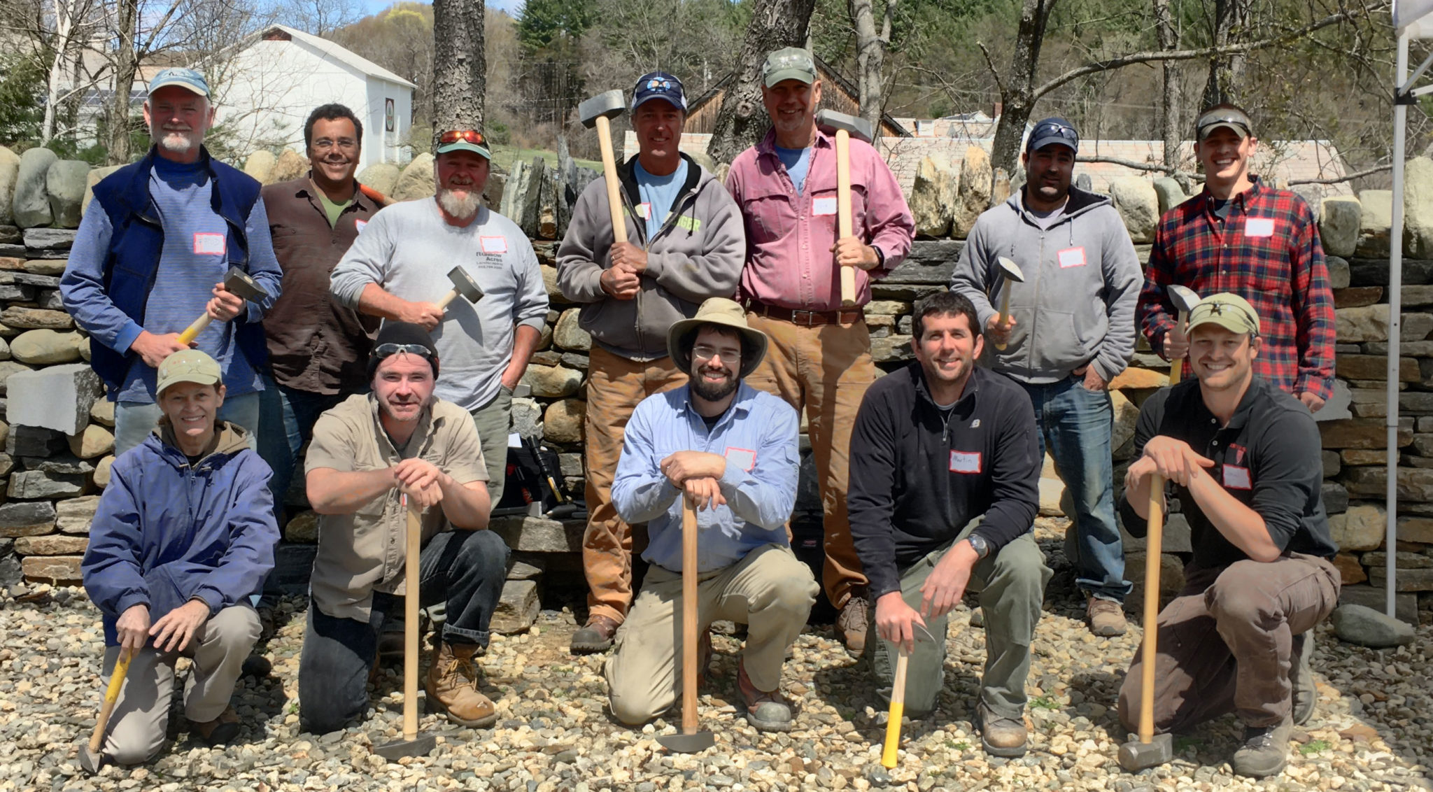 Stone Shaping Course 2016 group photo at The Stone Trust