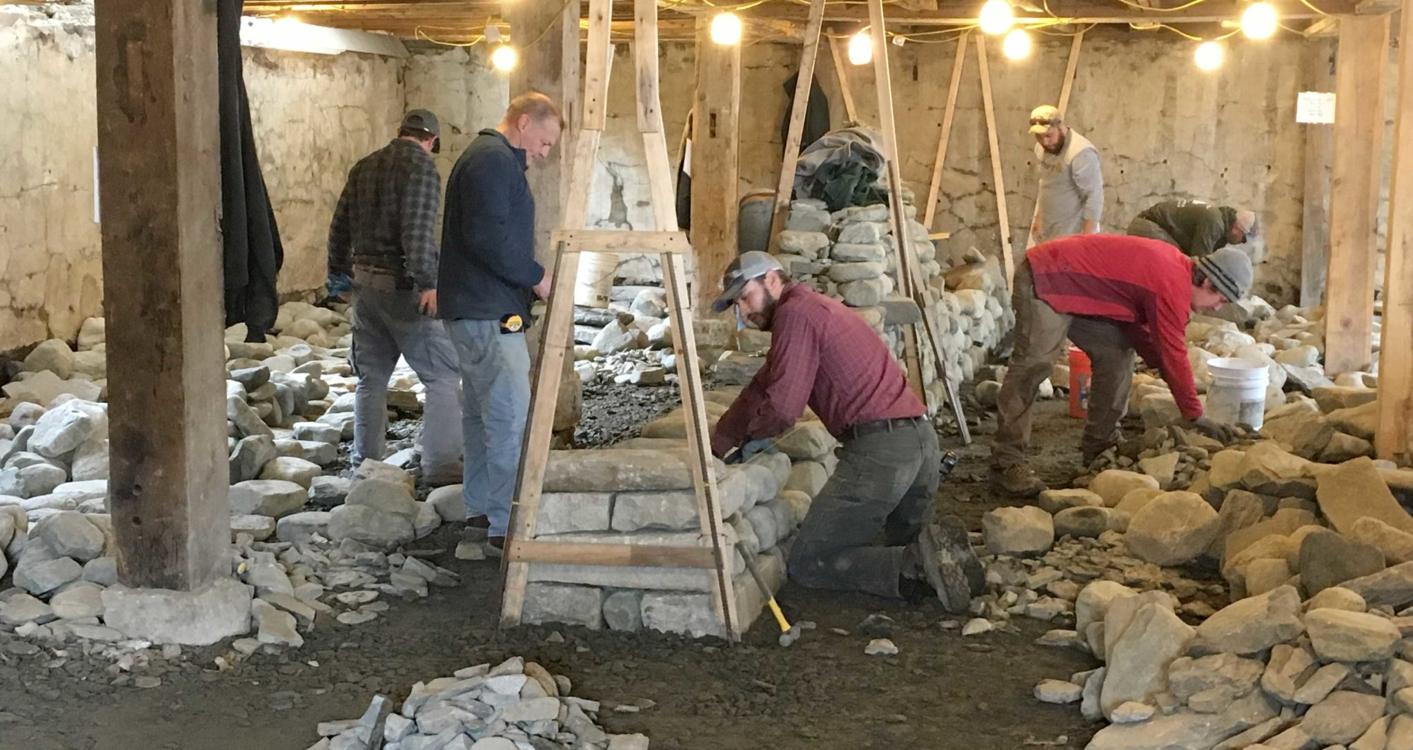 Dry Stone Wall Certification Test Prep Workshop in Action at The Stone Trust