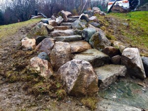 stones steps built by Hilary Dees