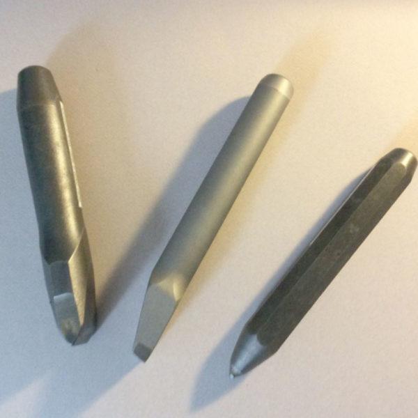 Carbide chisel set - side view