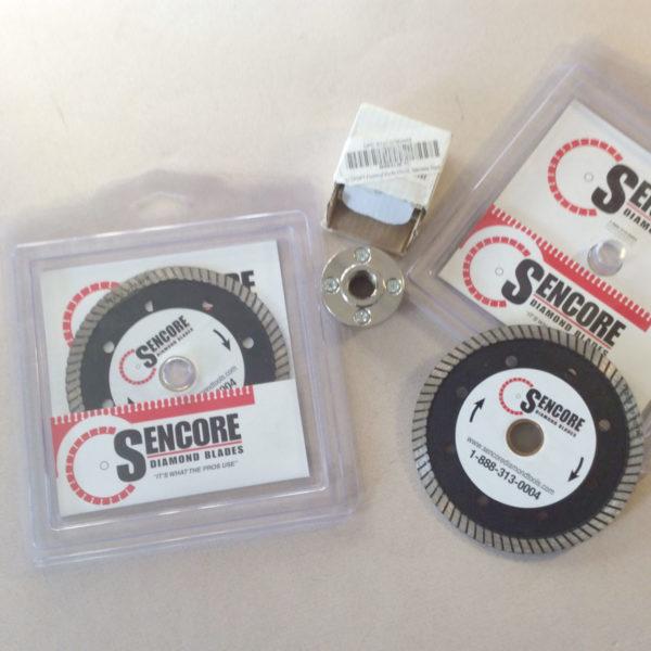 Grinder blade set: 2 blades and flush mount