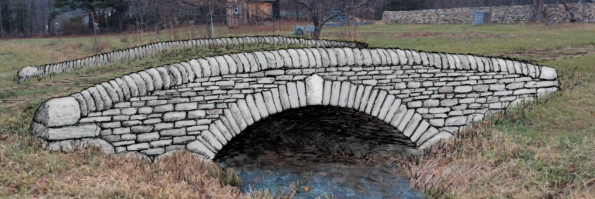 Learn To Build A Dry Stone Arched Bridge This Work Will Culminate The Building Series With Two Day Of Our Farm Road