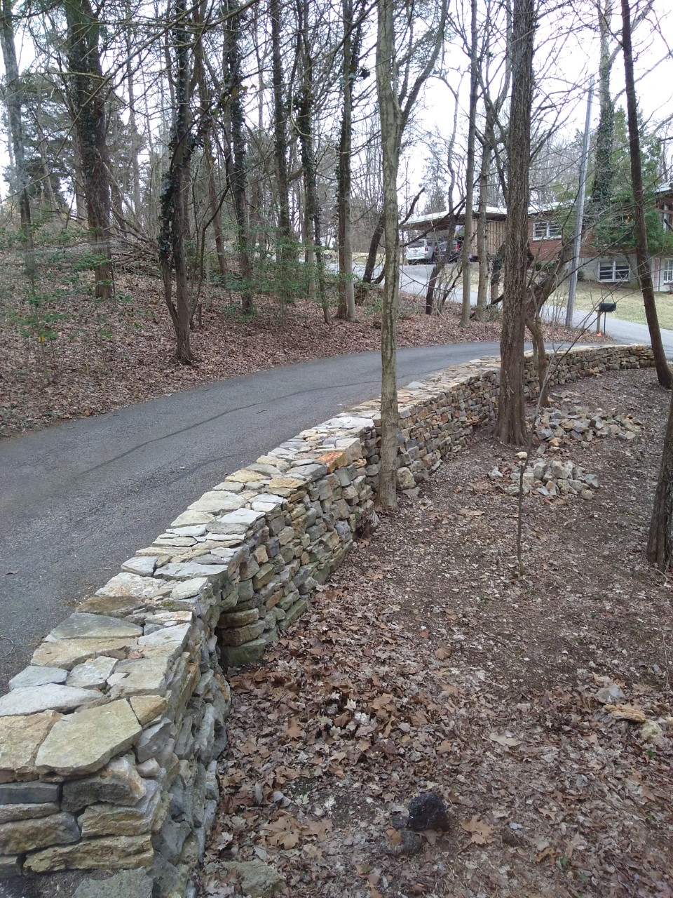 dry stone wall built by workshop participant