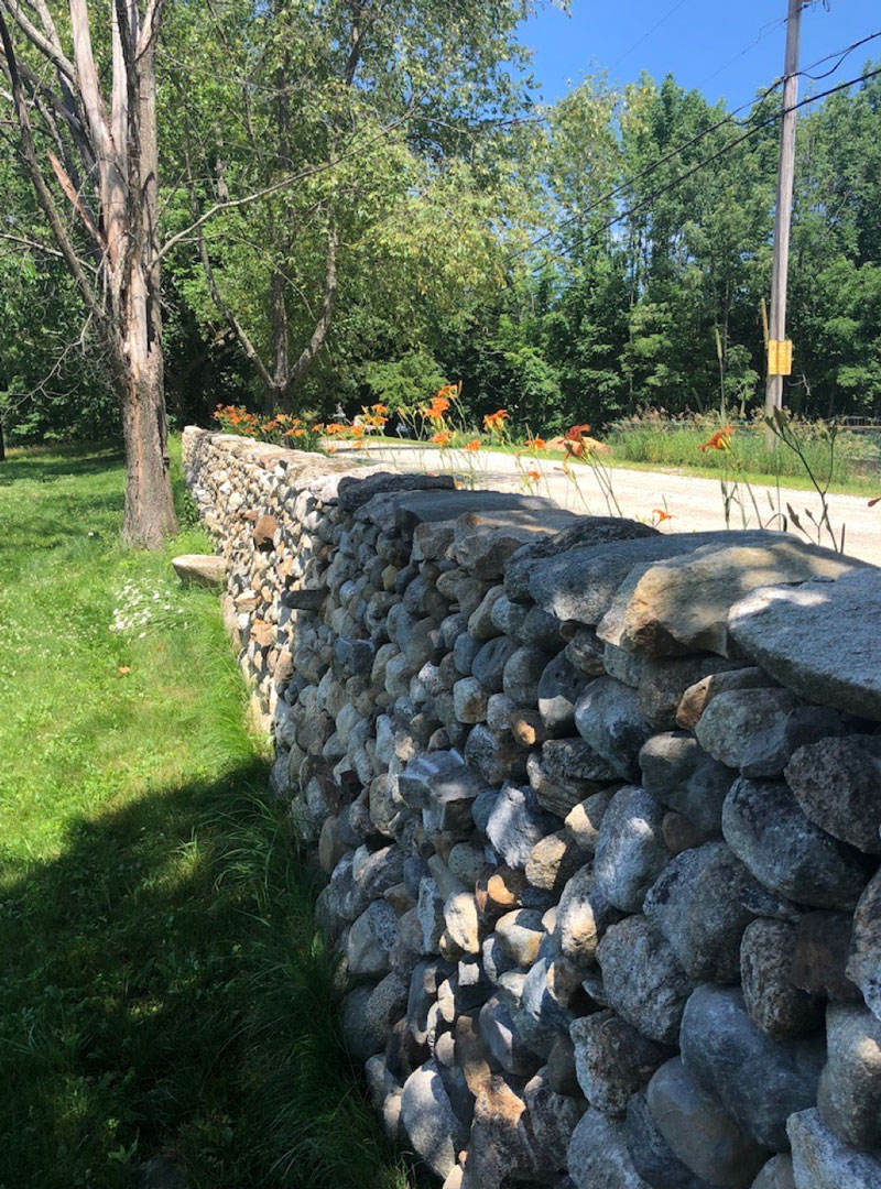 Broadview Farm Stone Trust workshop site wall