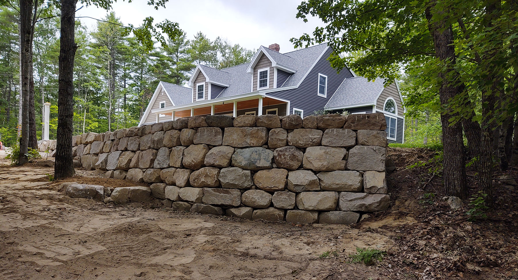 Boulder Retaining Wall by Chris Tanguay