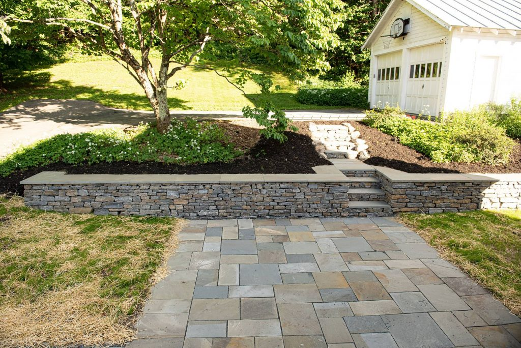 Retaining Wall and Patio by Sam Brakeley
