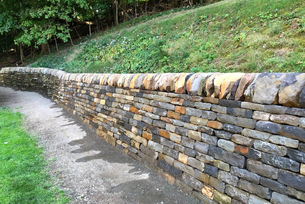 Additional view of Kim and Jerry Coggin's Rebuilt Retaining Wall