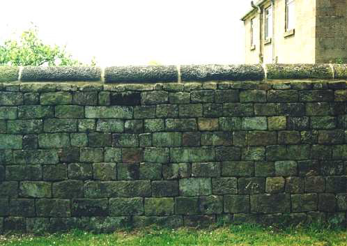 Figure 1, Coursed Wall, Stanton, Staffordshire