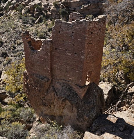 Tower at the Hovenweep National Monument