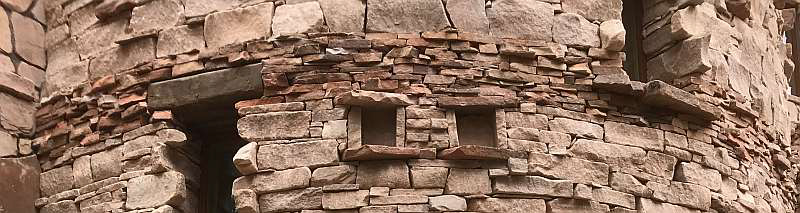 Contrasting sandstone detail