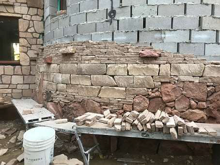 Triple course of taller bricks